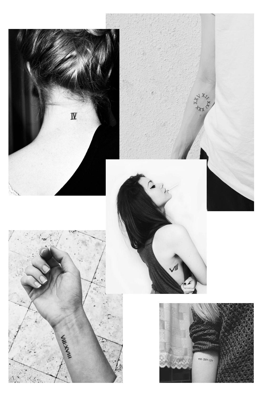 Motif tatouage : chiffre romain - Inspiration