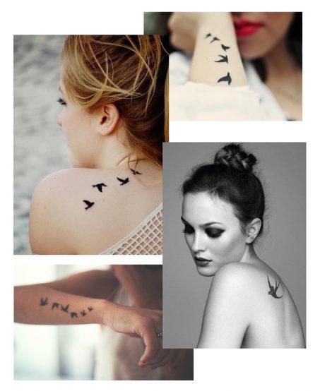 Motif tatouage hirondelle - Inspirations