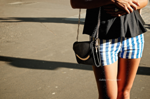Tenue short rayé 3