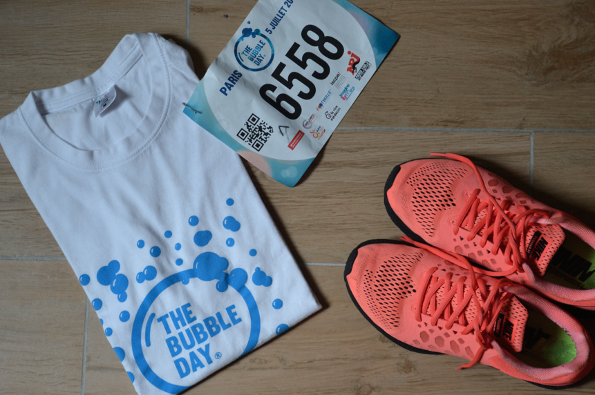 Equipement de running pour la course The Bubble Day Paris de Juillet 2015