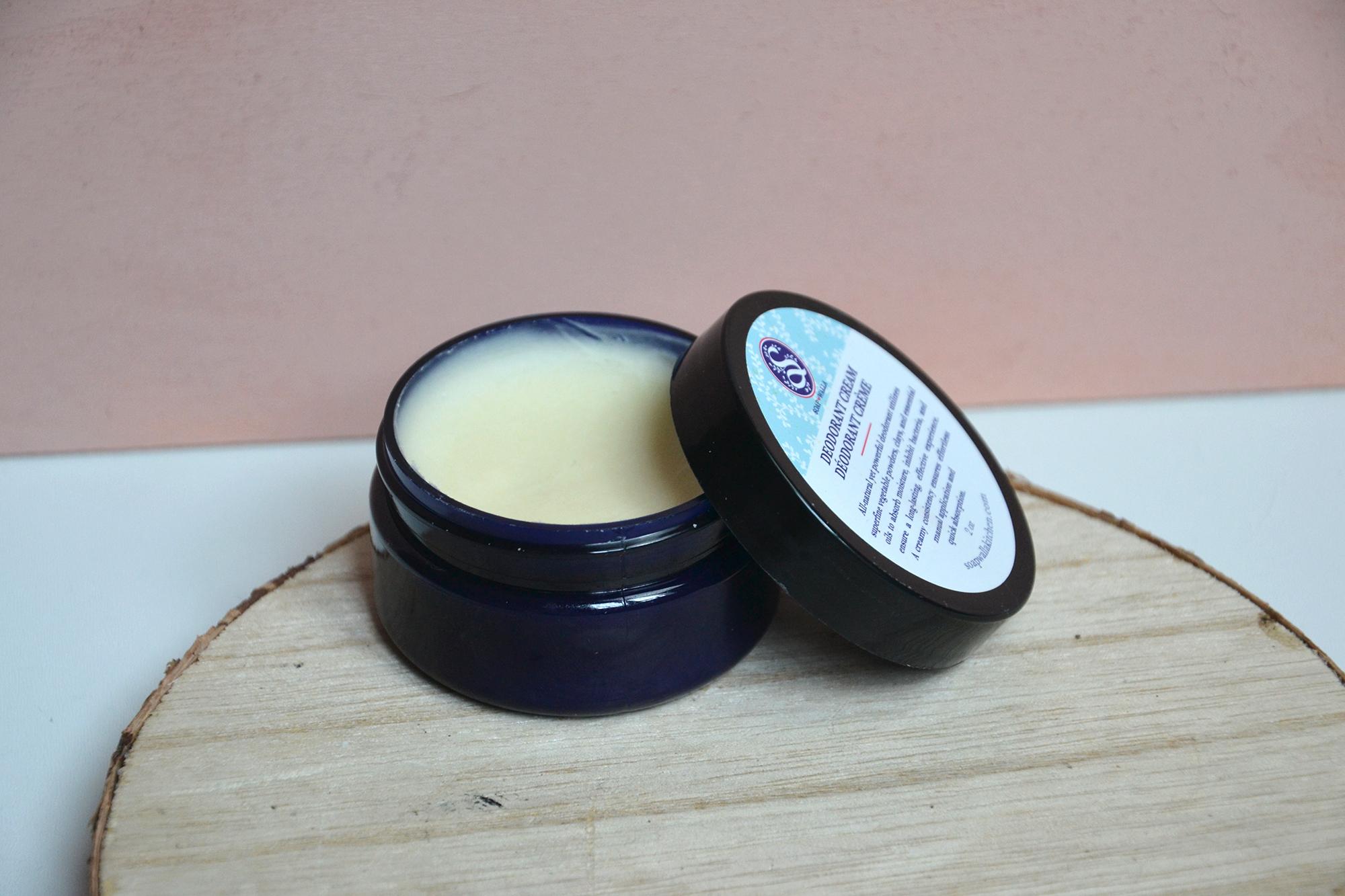 Pot de déodorant crème efficace