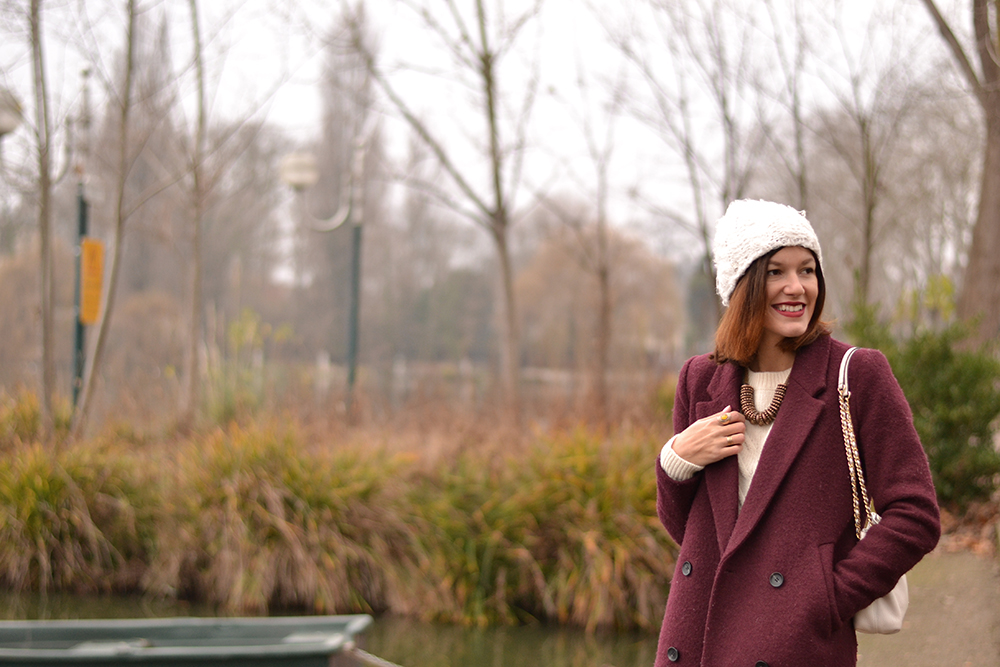 Inspiration mode - Look Manteau bordeaux
