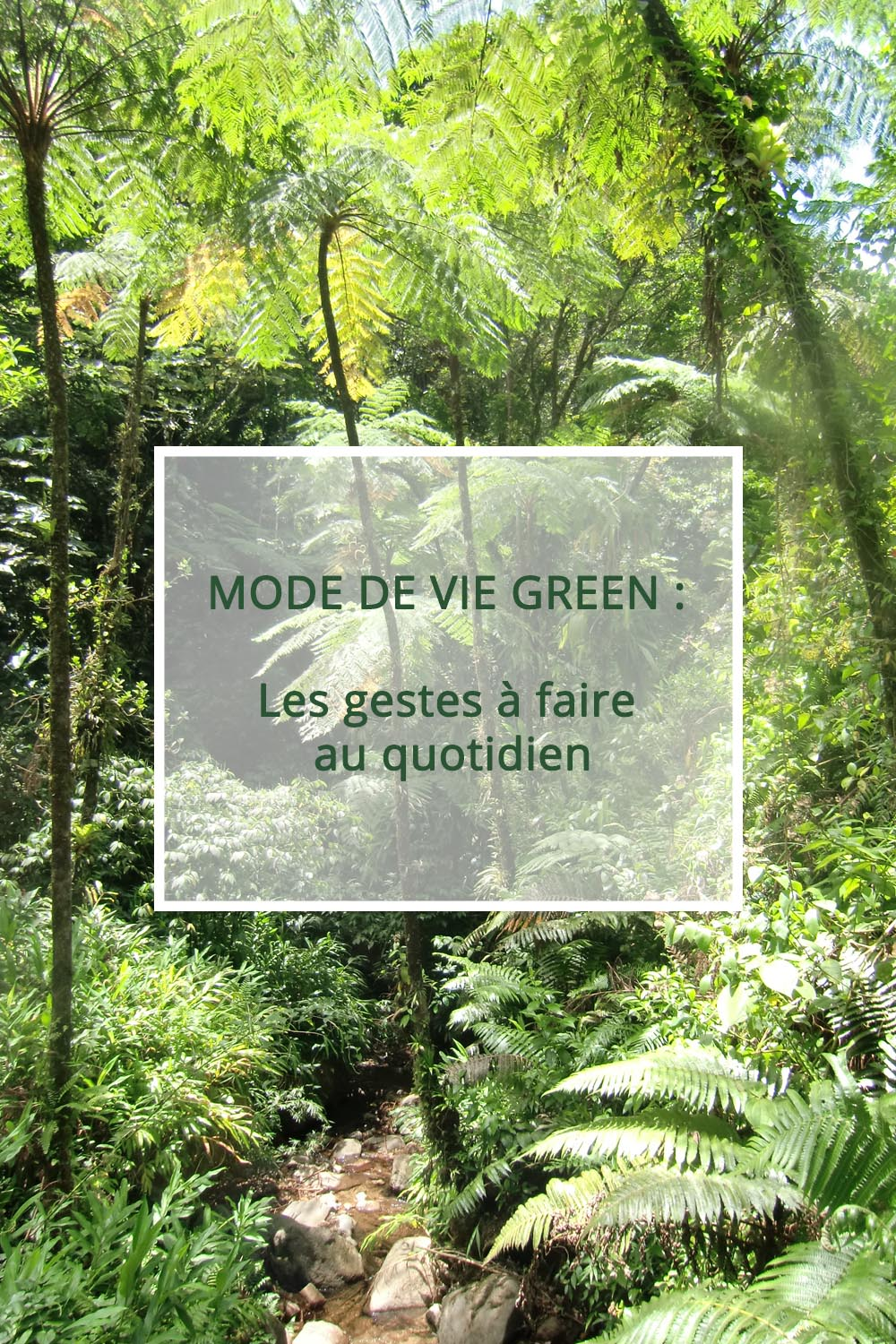 Mode de vie Green