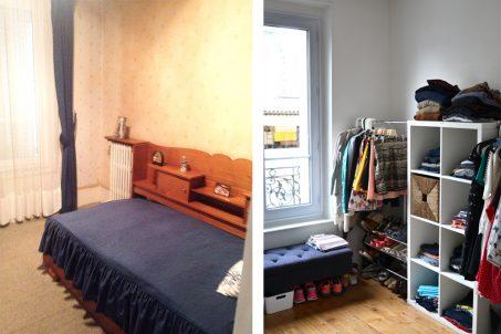 Avant / Après - Transformation du dressing