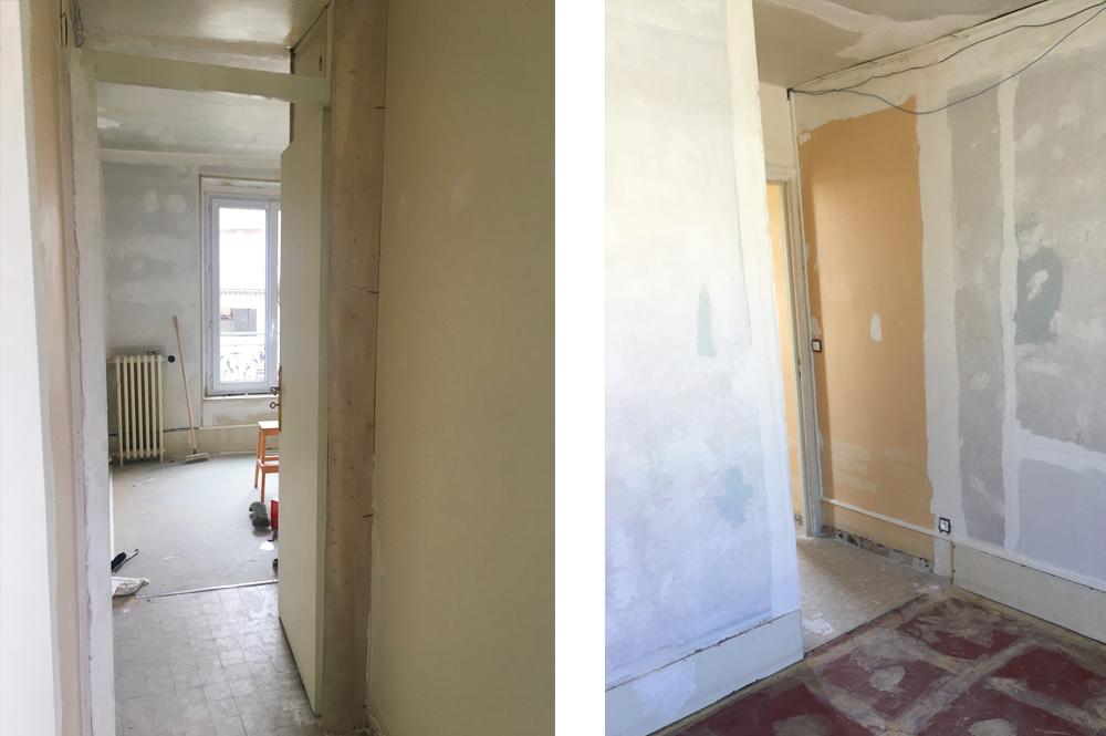 Avant / Après - Transformation du bureau : pendant les travaux