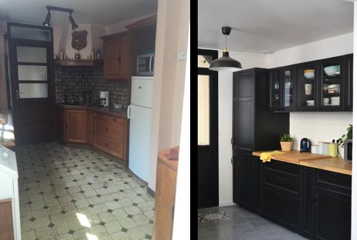 Avant / Après - Transformation de la cuisine