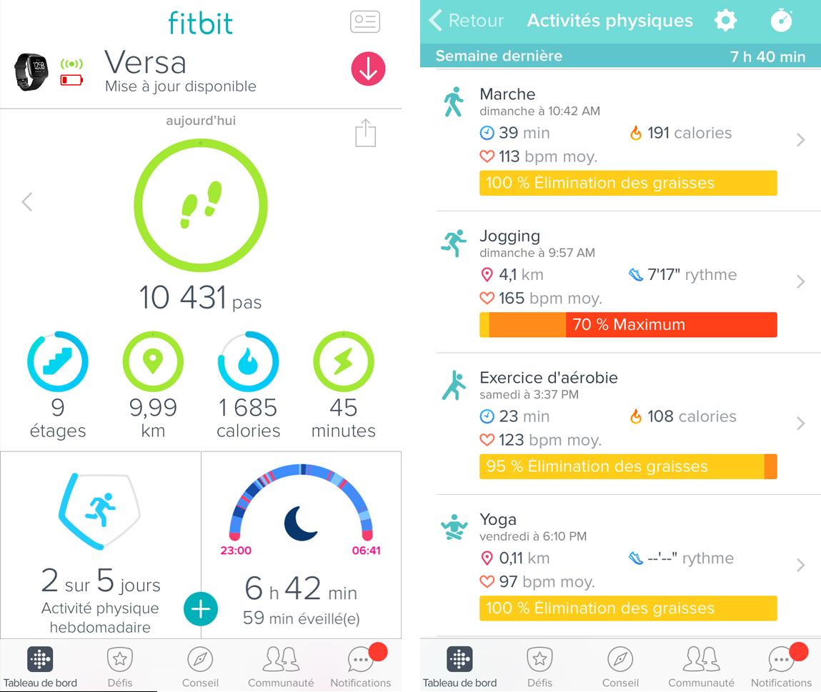 Mon avis sur la Fitbit Versa