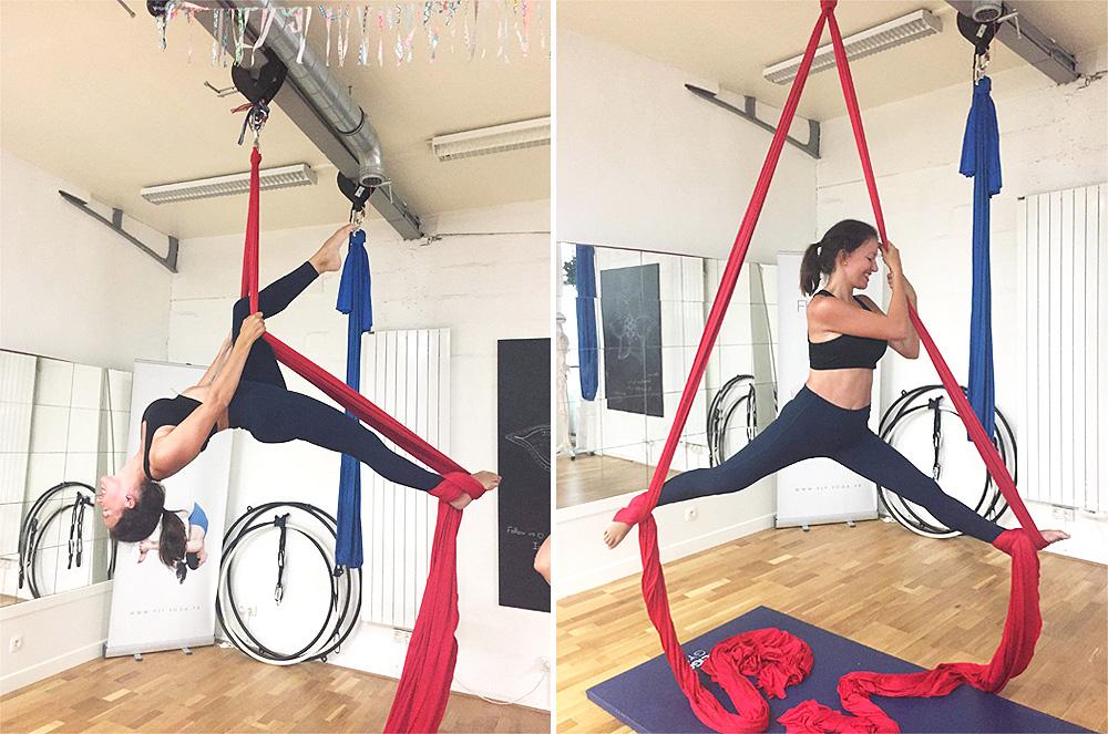Avis sur le yoga aérien chez Fly Yoga