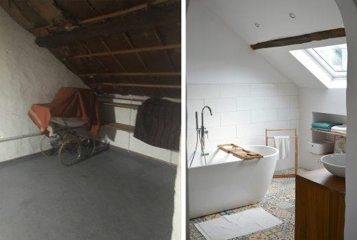 Avant / Après - Création de la salle de bain