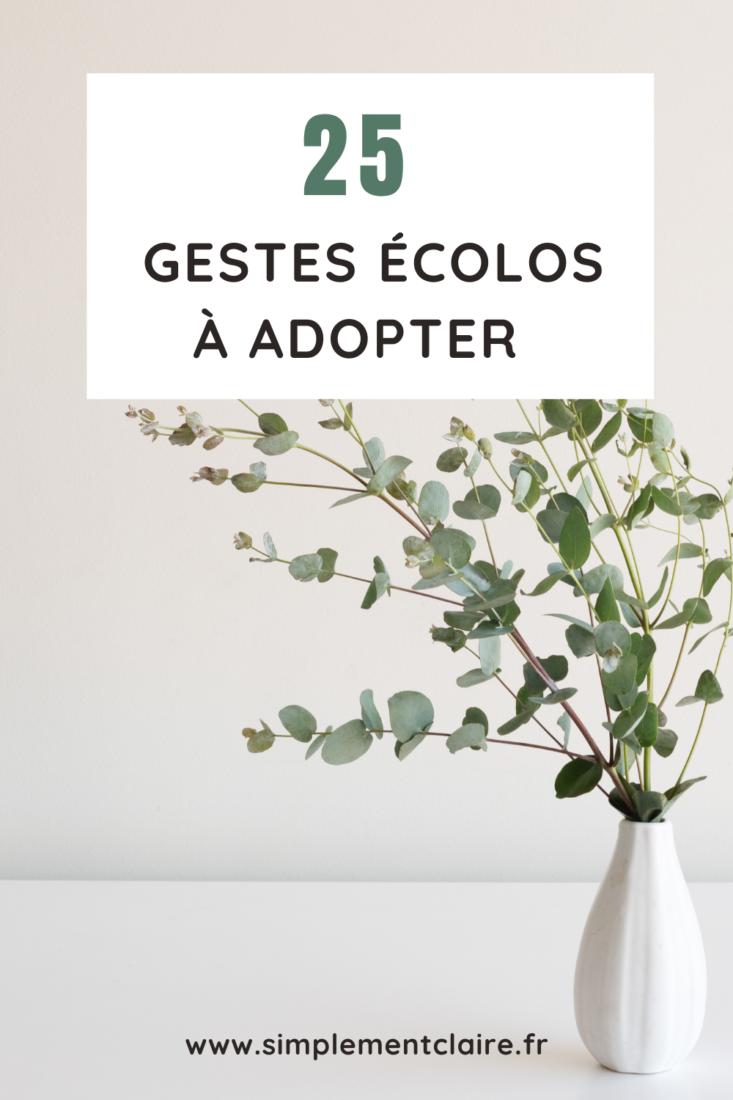 25 gestes écolos à adopter